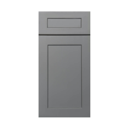 shaker gray cabinets
