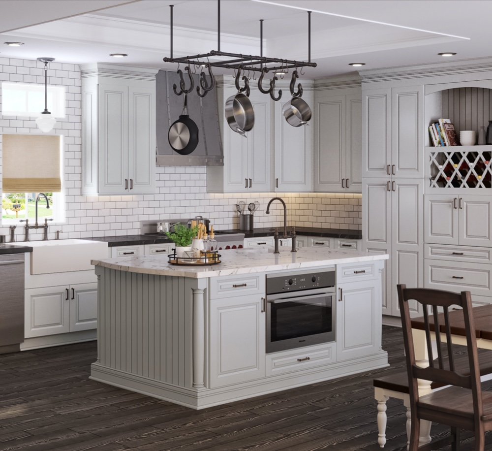 Cobbleridge Dove Cabinets