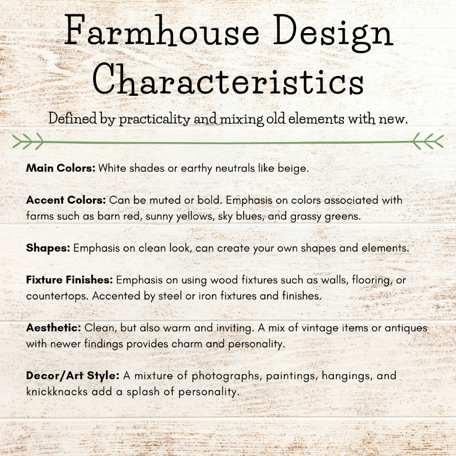 Farmhouse Design Characteristics