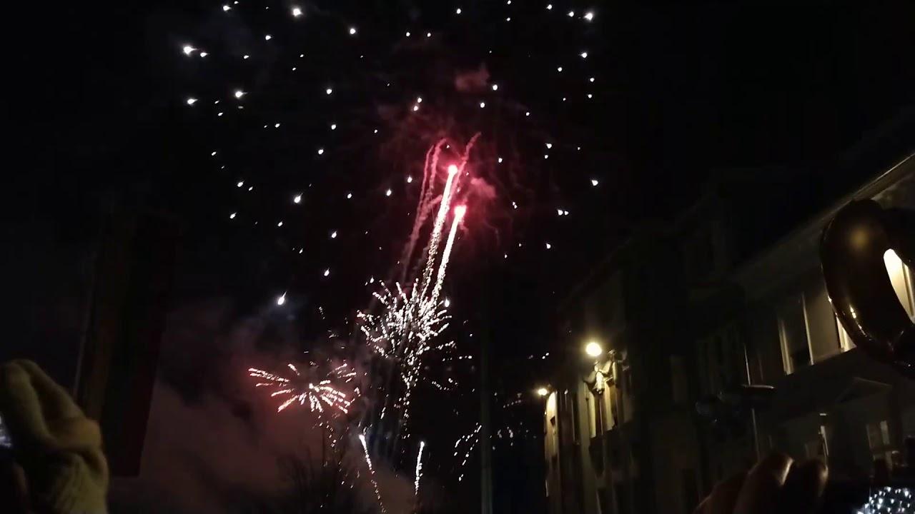 Fuochi d'artificio al capodanno di Villach