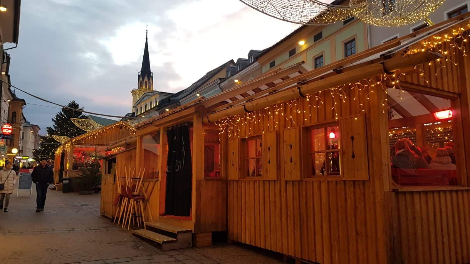 I mercatini di Natale a Villach in centro