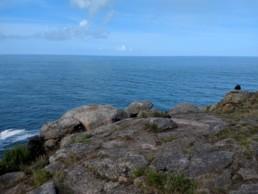 Finisterre e la scogliera a picco sull'oceano Atlantico
