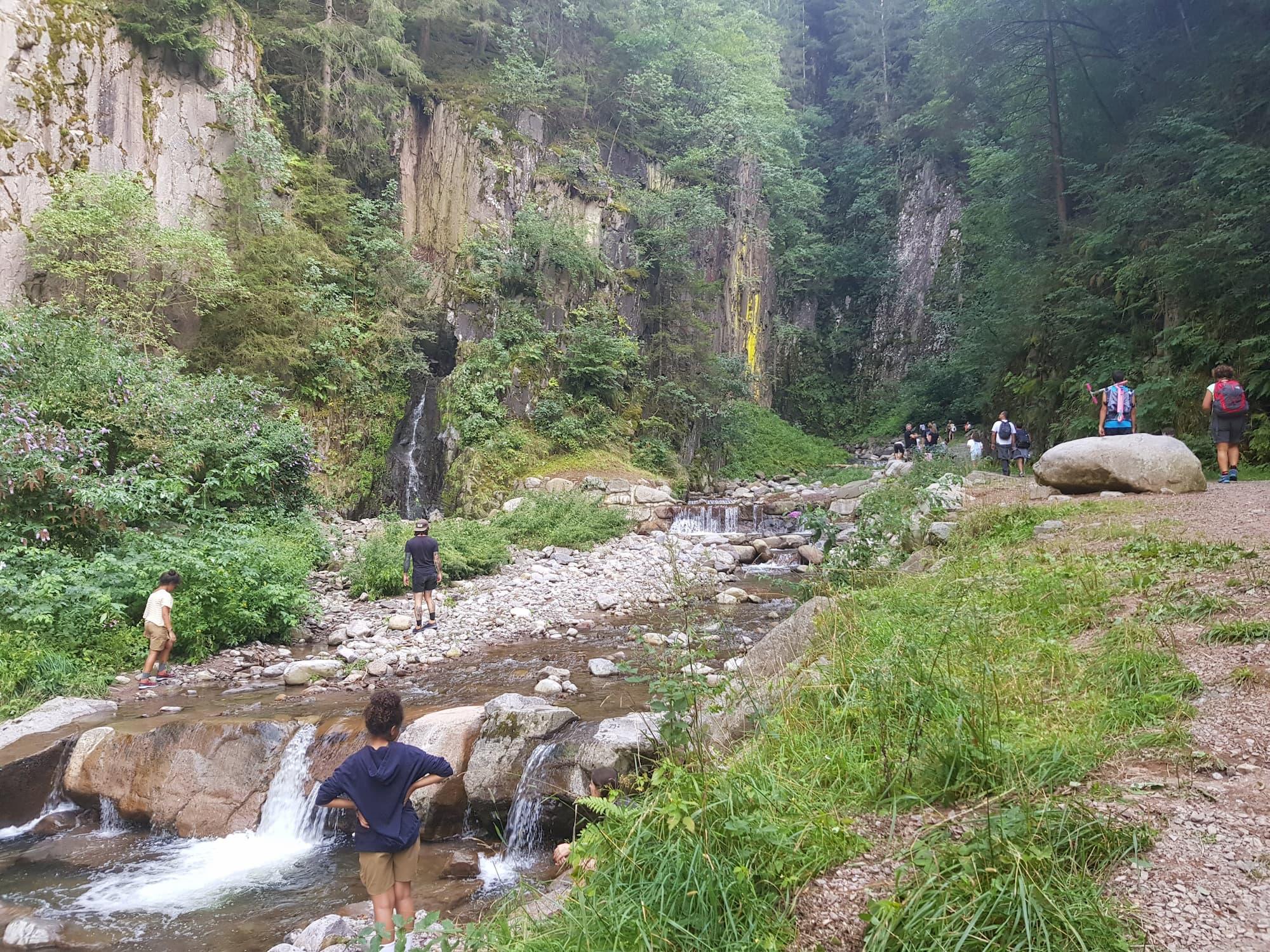 Ultimi metri primi di arrivare alla cascata del Lupo