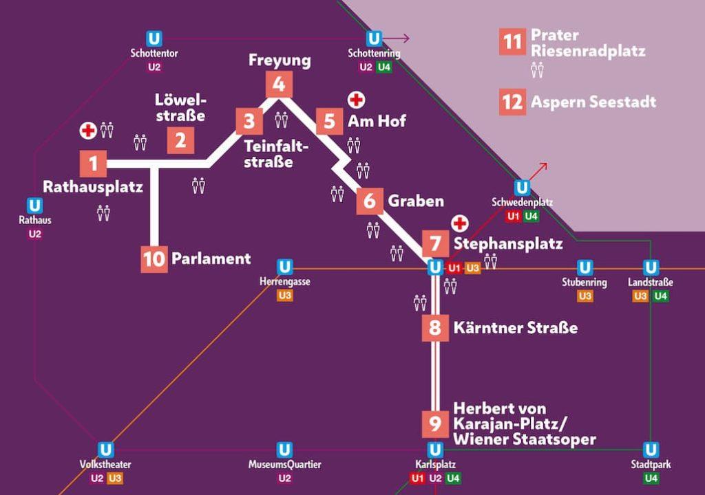 Mappa del Silversterpfad di Vienna