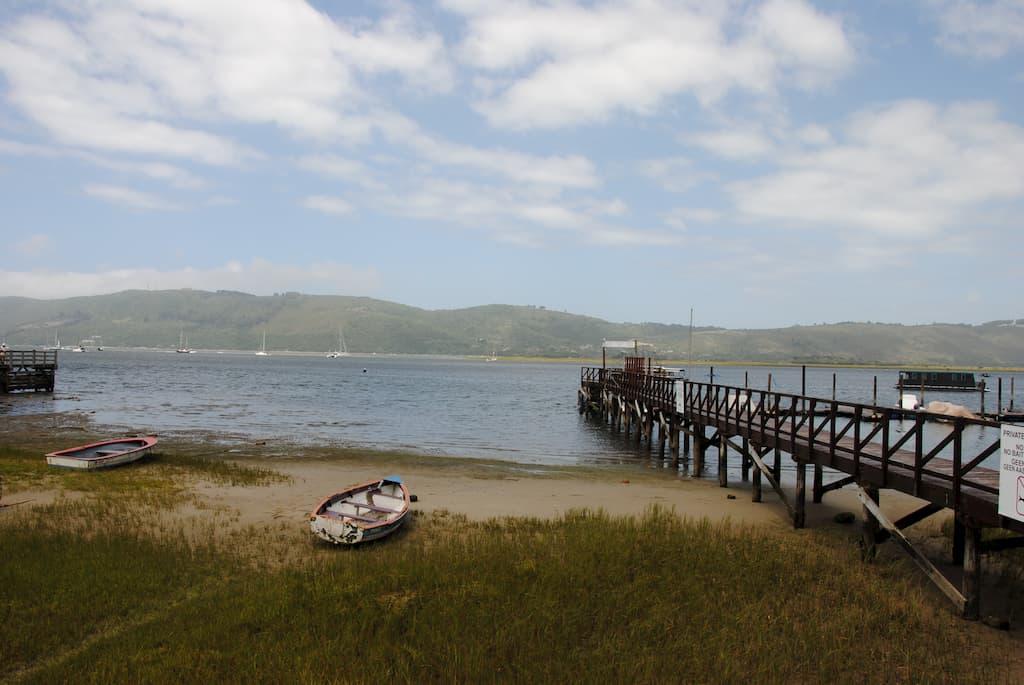 Un pontile sulla laguna di Knysna