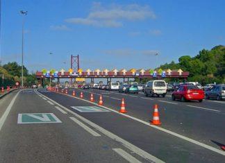 Corsia Via Verde nell'autostrada del Portogallo