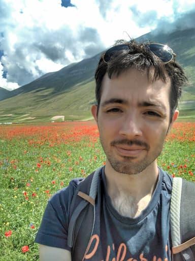 Federico Pisanu alla Fioritura di Castelluccio 2020