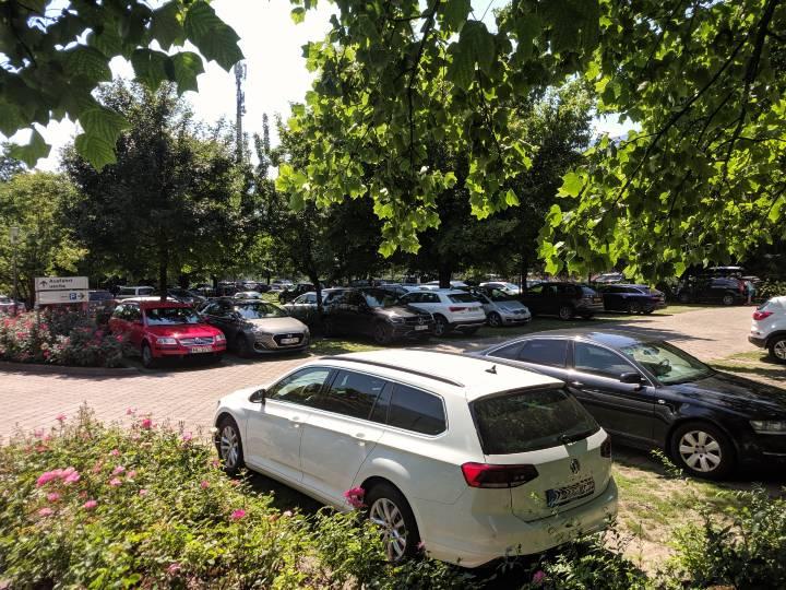 Il parcheggio ai Giardini di Sissi a Merano