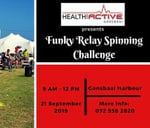 Funky Relay Spinning Challenge : Gansbaai Harbour