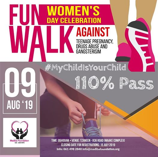 Fun Walk Against Teenage Pregnancy, Drug Abuse & Gansterisim : Tzaneen Maake Plaza