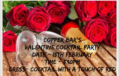 Valentines Cocktail Party : Copper Bar