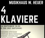 4 Klaviere : Heuer W Musikhaus
