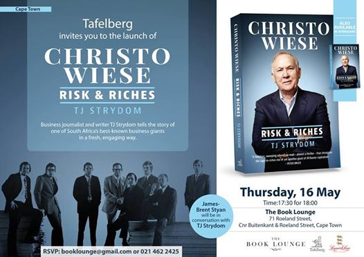 Launch of Christo Wiese: Risk & Riches by TJ Strydom : Book Lounge