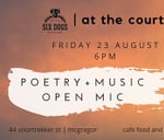 at the courtyard poetry festival open mic : at the courtyard