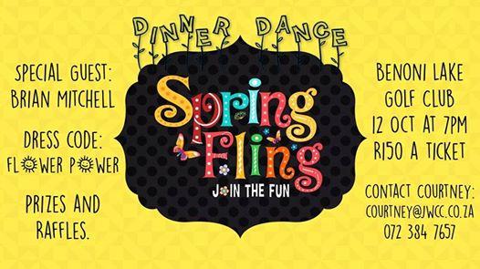 Spring Fling Dinner Dance : Lake Club Benoni