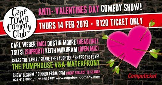 Anti-Valentines Day : Cape Town Comedy Club