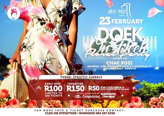 Doek on Fleek Florals Party Soweto - 66 Tickets LEFT : Chaf Pozi