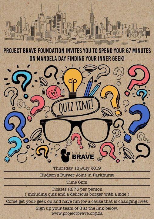 Project Brave Foundation: Mandela Day Quiz Night 2.0