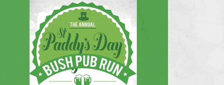 The Annual St Paddy's Day Bush Pub Run : Huddle Park Golf & Recreation