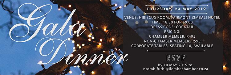 iLembe Chamber Gala Dinner : Fairmont Zimbali Resort