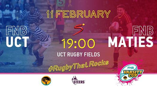 FNB IKey Tigers vs FNB Maties : UCT rugby fields - The Green Mile