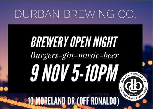 Durban Brewing Co. Open Night : Durban Brewing Co.
