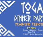Toga Dinner Party : Shifted Young Adults