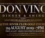 DON VINO Dinner & Swing Ft The SAXYVIBES Big Band : The River Club