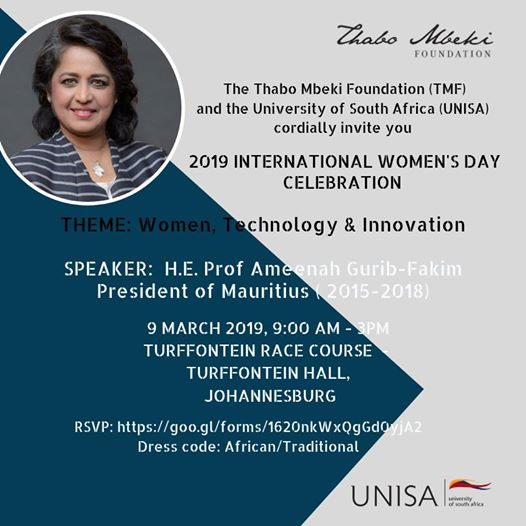 2019 International Women's Day lecture & discussion : Turffontein Racecourse
