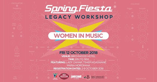 Spring Fiesta Workshop: Women In Music : Birchwood Hotel & OR Tambo Conference Centre