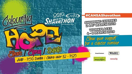 CANSA Shavathon 2019 at Springs Mall : Springs Mall