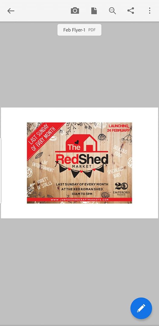 The RED SHED Market : Red Roman Shed At Emperors Palace