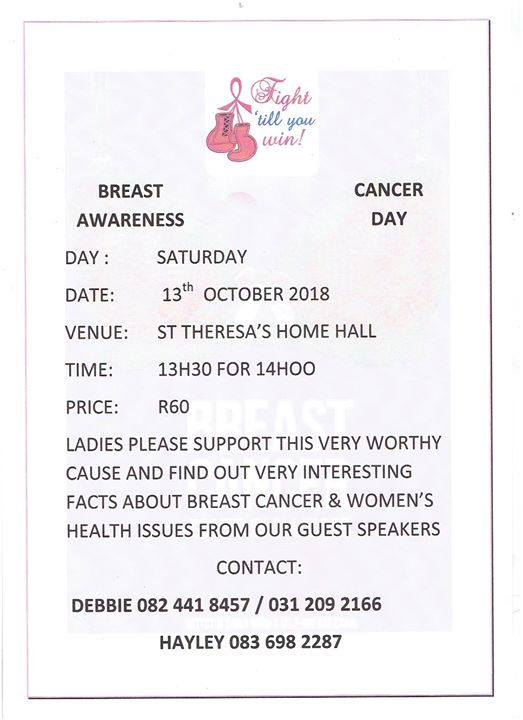 Annual Breast Cancer Awareness Day : St.Theresa's Children's Home