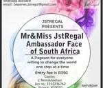 Mr&Miss JstRegal Ambassador Face of South Africa : Rochemo-Ri