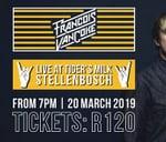 Francois van Coke LIVE - Tigers Milk, Stellies : Tiger's Milk Stellenbosch