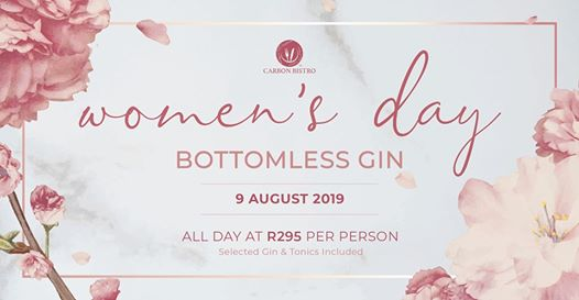 National Women's Day Bottomless Gin : Carbon Bistro
