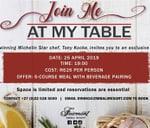 Chef's Table : Fairmont Zimbali Resort