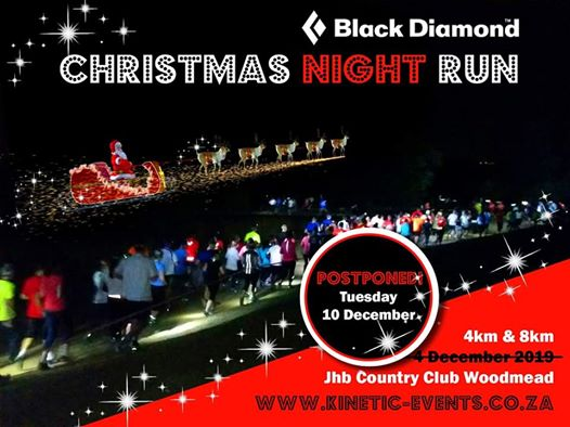 Kinetic Events Africa: Black Diamond Christmas Run - Tuesday, 10 Dec 2019