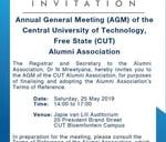 Alumni Association AGM : Central University of Technology, Free State (CUT)