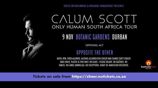Calum Scott - Only Human Tour - Durban : Durban Botanic Gardens