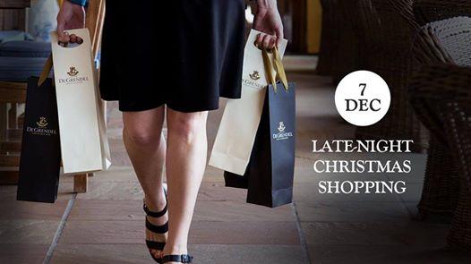 Late-Night Christmas Shopping at De Grendel : De Grendel Wine and Restaurant