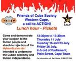 End the Blockade against Cuba!! Picket : Cape Town Parliament