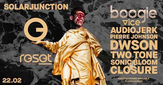 Solarjunction ft Boogie Vice, Dwson, Audiojerk, Pierre Johnson : Reset.