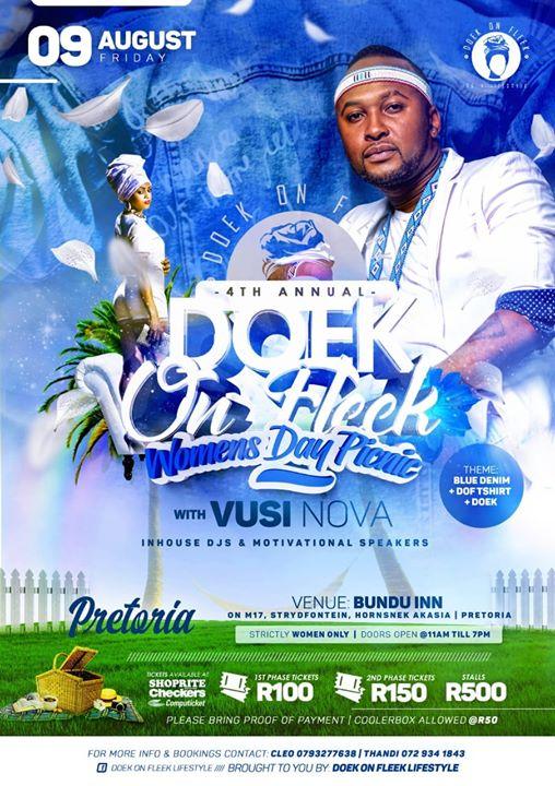 4th Doek On Fleek All Womens Day Pretoria - 88 Tickets LEFT : Bundu Inn Ga-rankuwa