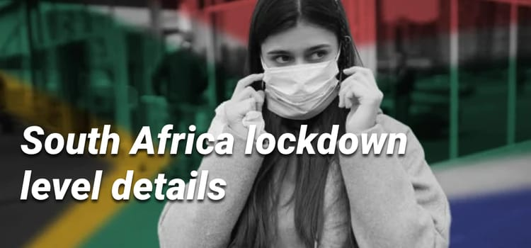 South Africa lockdown level details - Industry conditions & rules
