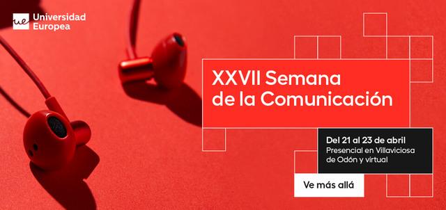 Te invitamos a la XXVII Semana de la Comunicación
