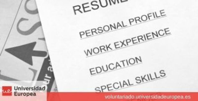 Maquetación y diseño de Curriculum Vitae para personas en riesgo de exclusión