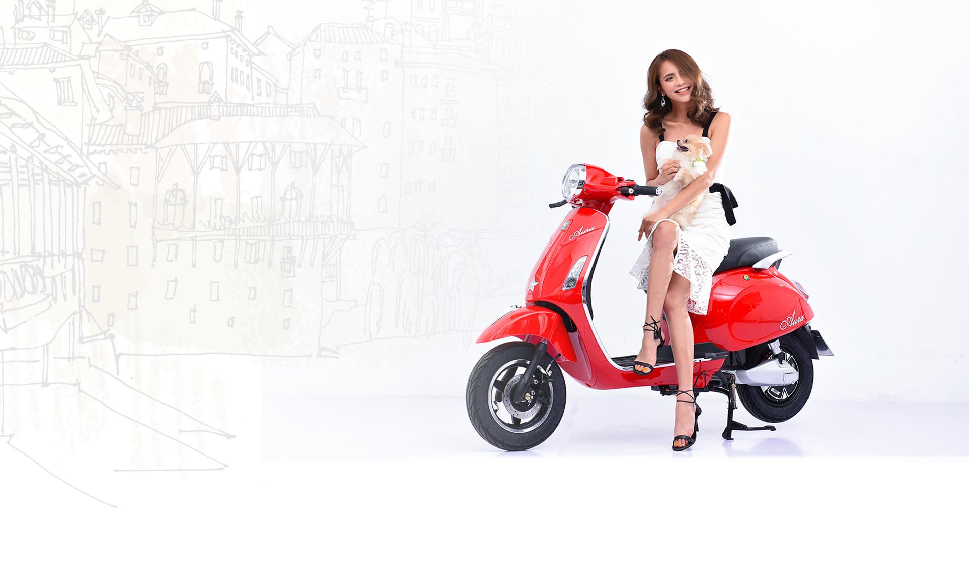 Pega Aura - Xe máy điện kiểu Ý