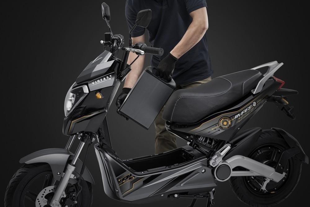 Xe máy điện VinFast Impes được trang bị động cơ điện Bosch cho công suất mạnh mẽ