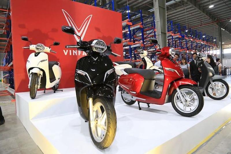 Các dòng xe máy điện VinFast hiện đại tại đại lý ủy quyền (Nguồn: thuonggiaonline.vn)